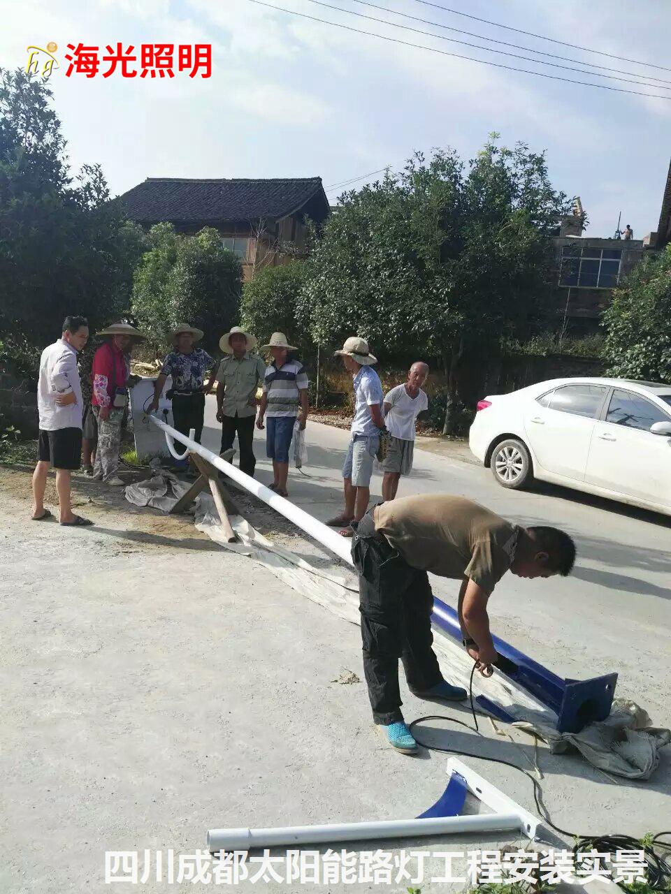 四川成都村村通道路太阳能LED路灯安装工程项目