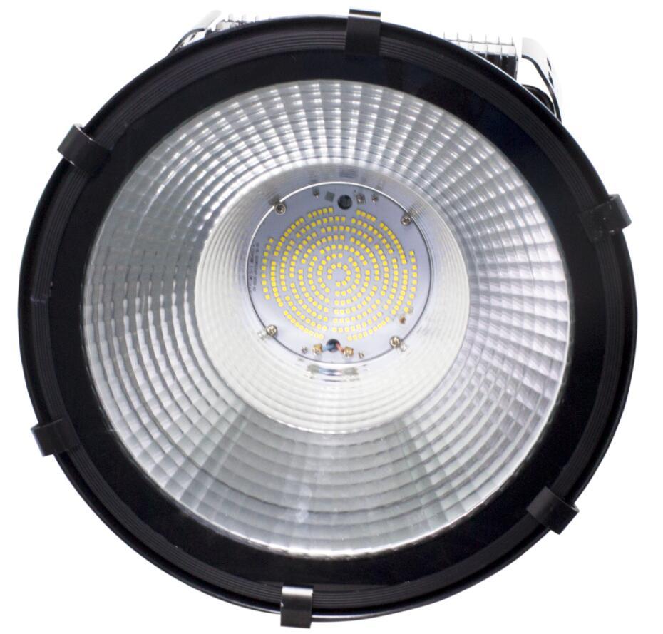 HGLED-G-014 合肥新款高端鳍片散热黑色大功率高亮高空照明LED塔吊灯高杆灯投光灯工矿灯高棚灯
